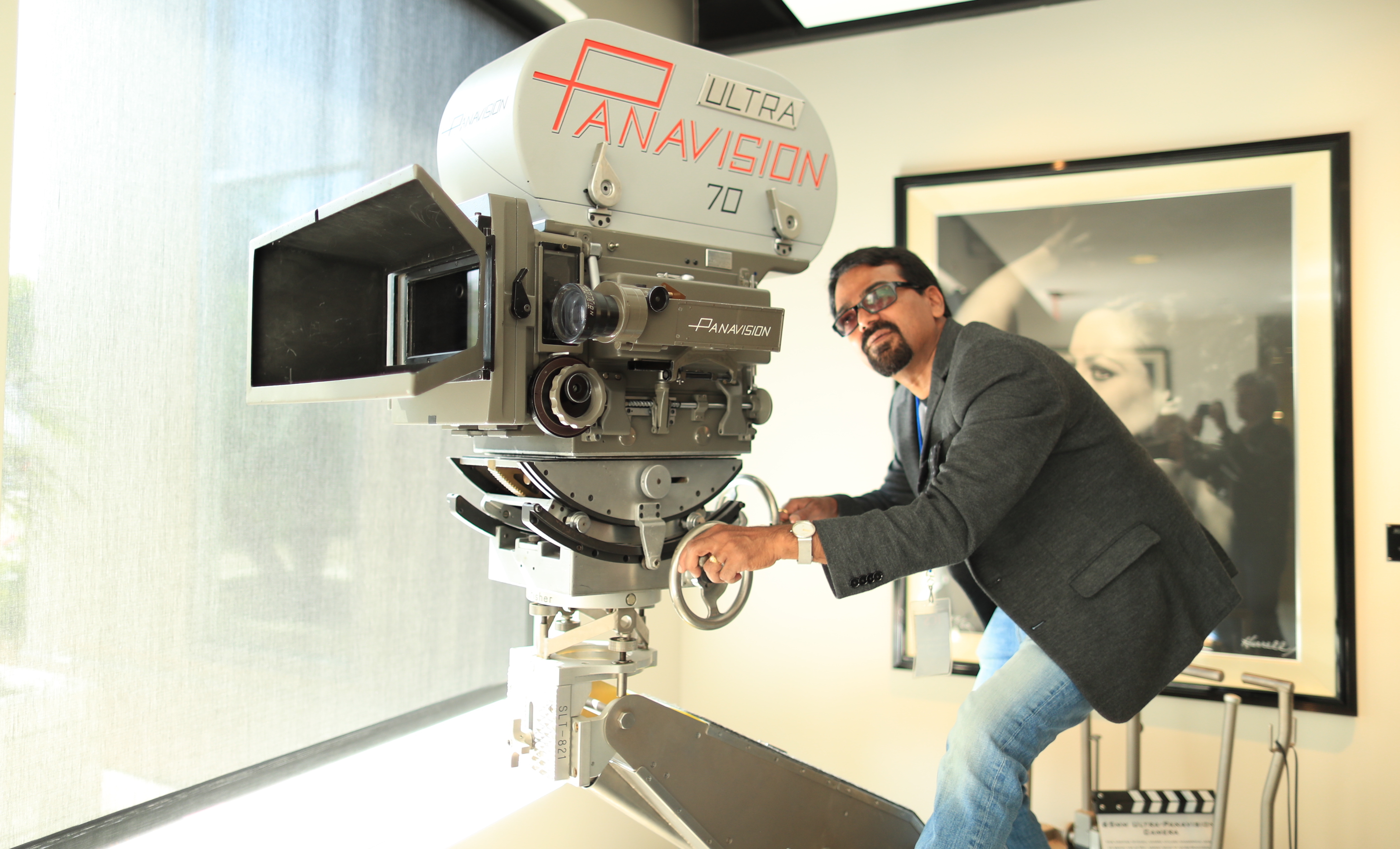 The Ultra Panavision 70 camera did not fail to impress. Photo by James Neihouse, ASC