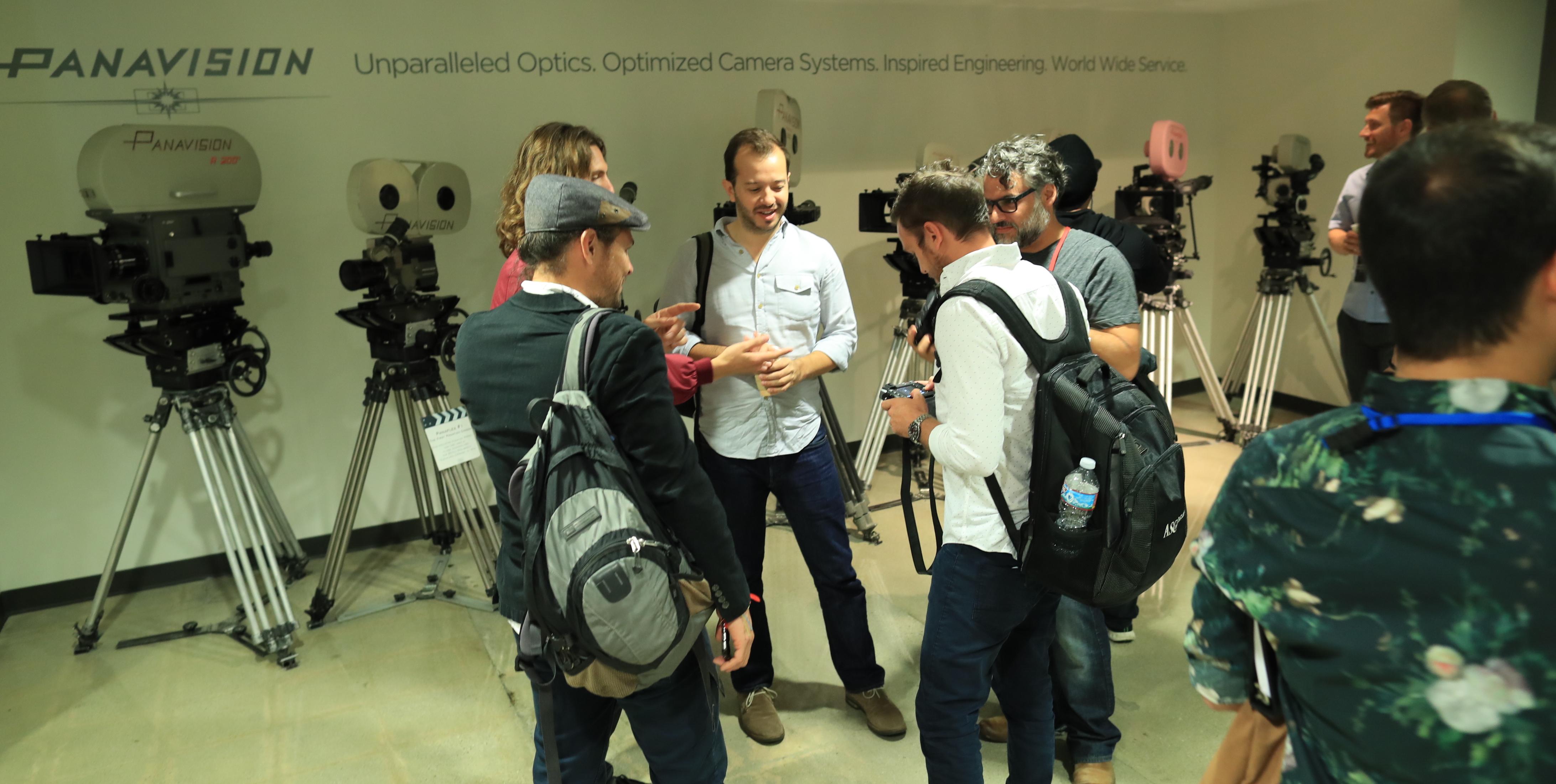 ICS participants gather inside. Photo by James Neihouse, ASC