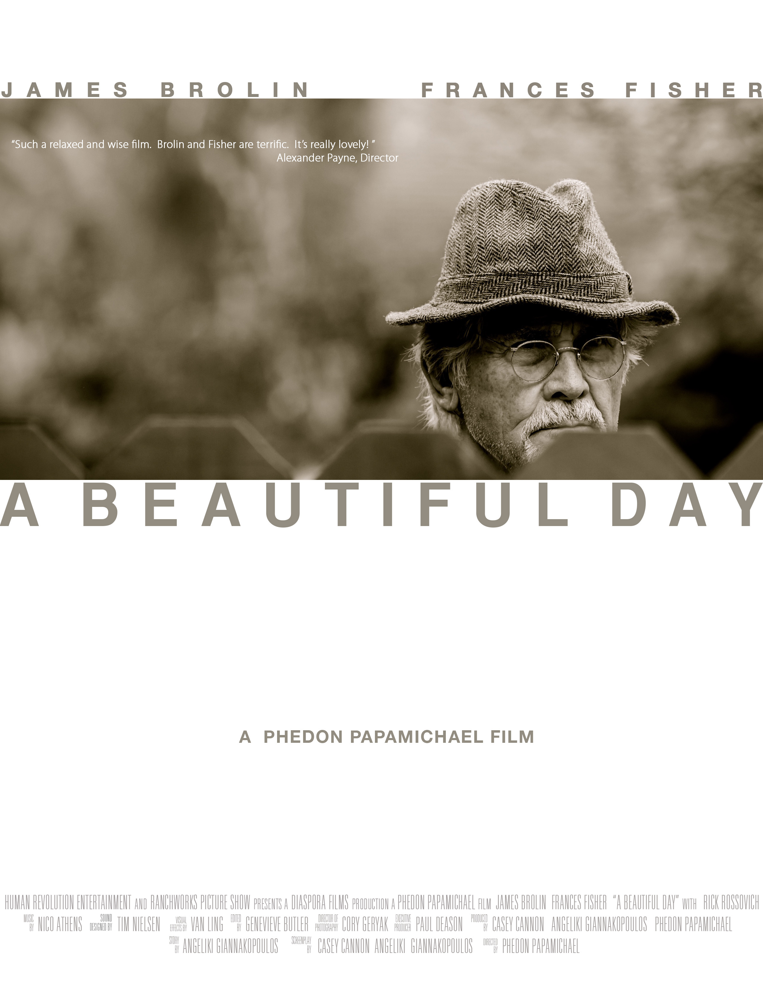 Poster for A Beautiful Day, directed by Phedon Papamichael, ASC