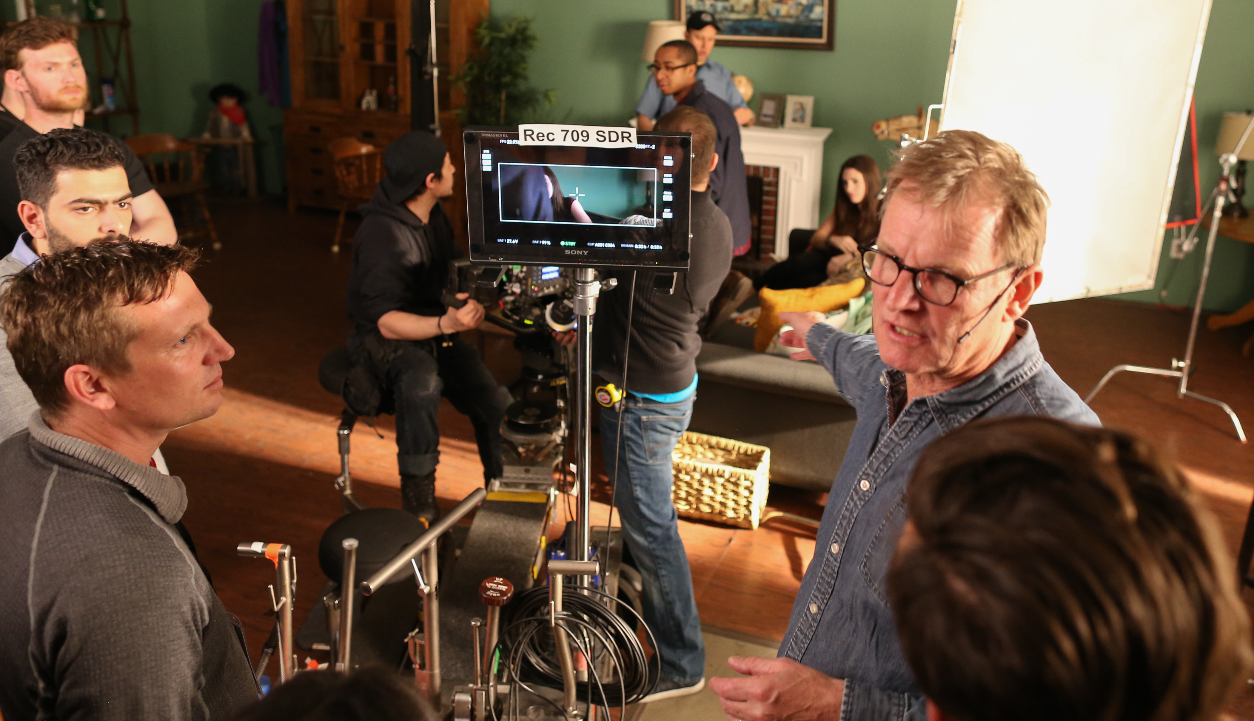 Karl Walter Lindenlaub, ASC, BVK leads the discussion with students during a recent Master Class session.