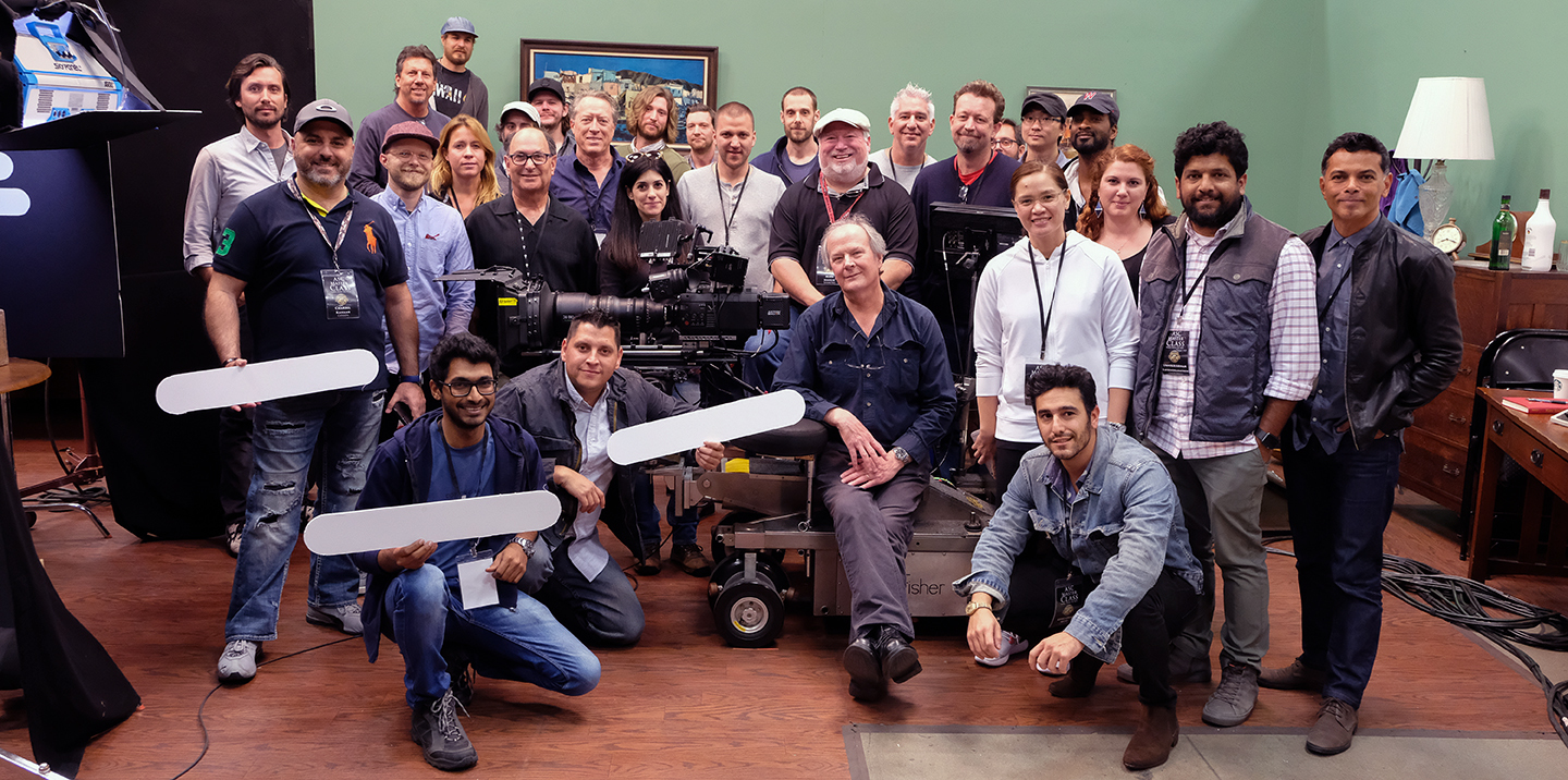 David Darby, ASC (seated on dolly) poses with his class at the Mole Stage.