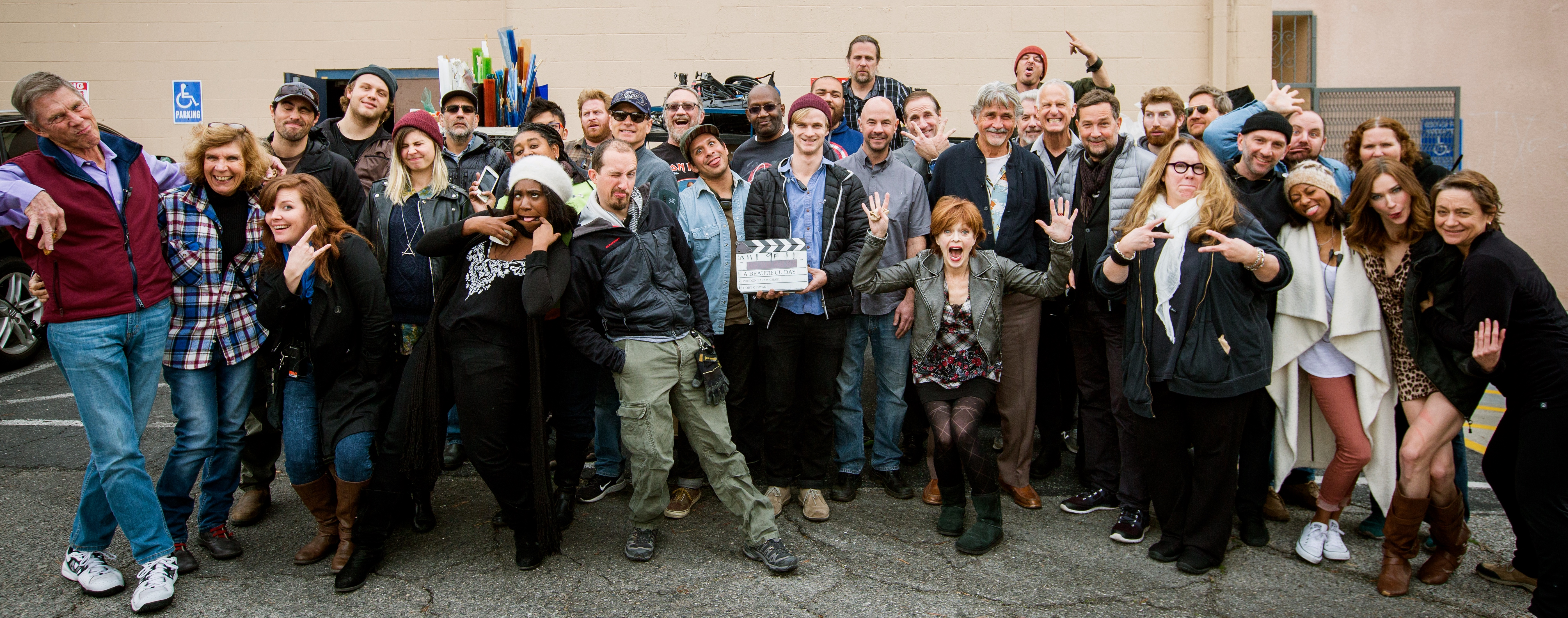 Papamichael and the cast and crew of his short A Beautiful Day.