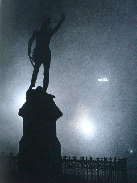 Brassai, Statue of Marshall Ney in the Fog.