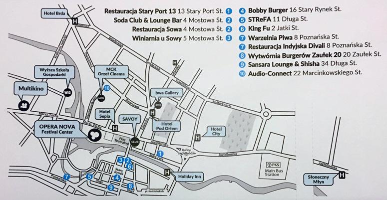 Camerimage 2016 map