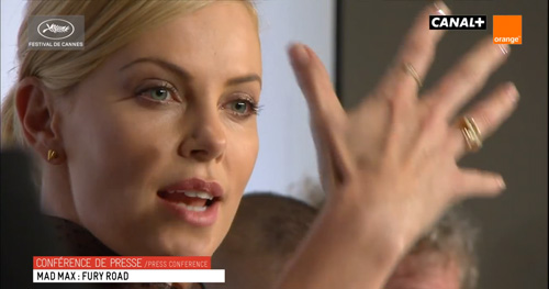 Charlize Theron during the press conference-
