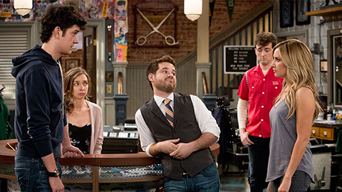 A scene from the new TBS comedy Clipped. (Credit: TBS)