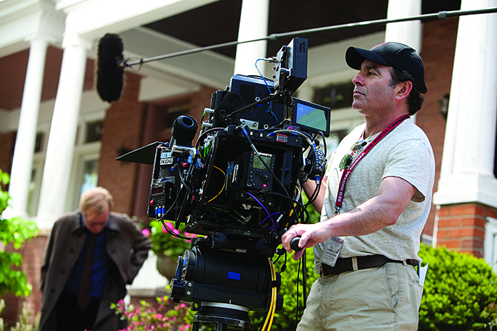 """Director of Photography John Schwartzman on the set of Columbia Pictures' """"The Amazing Spider-Man,"""" starring Andrew Garfield and Emma Stone."""