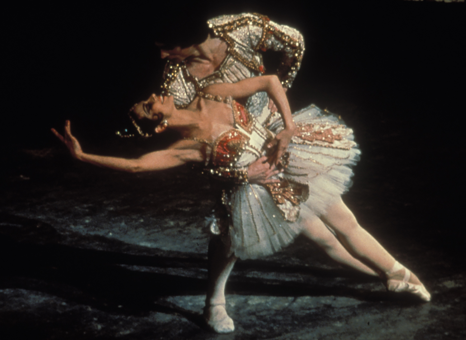Lucette Aldous and Rudolph Nureyev performing Don Quixote in 1973.