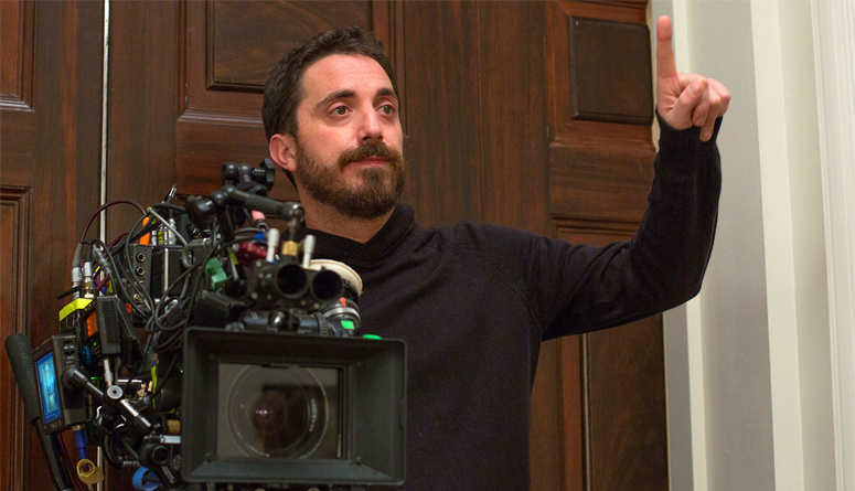 Director Pablo Larrain on the set of Jackie