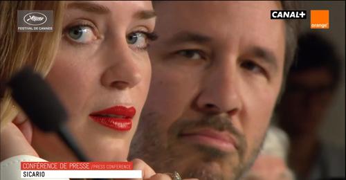 Emily Blunt and Denis Villeneuve-
