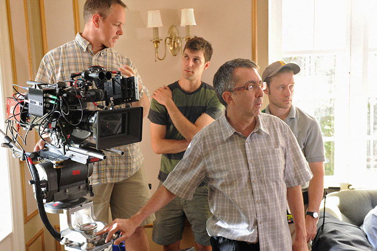 Ron Fortunato, ASC, and his crew at work on Elementary.(Credit: David M. Russell/CBS)