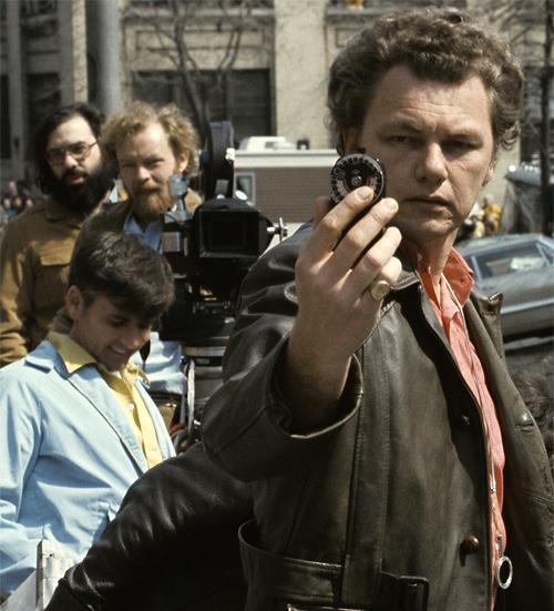 Gordon Willis metering on set of Godfather-