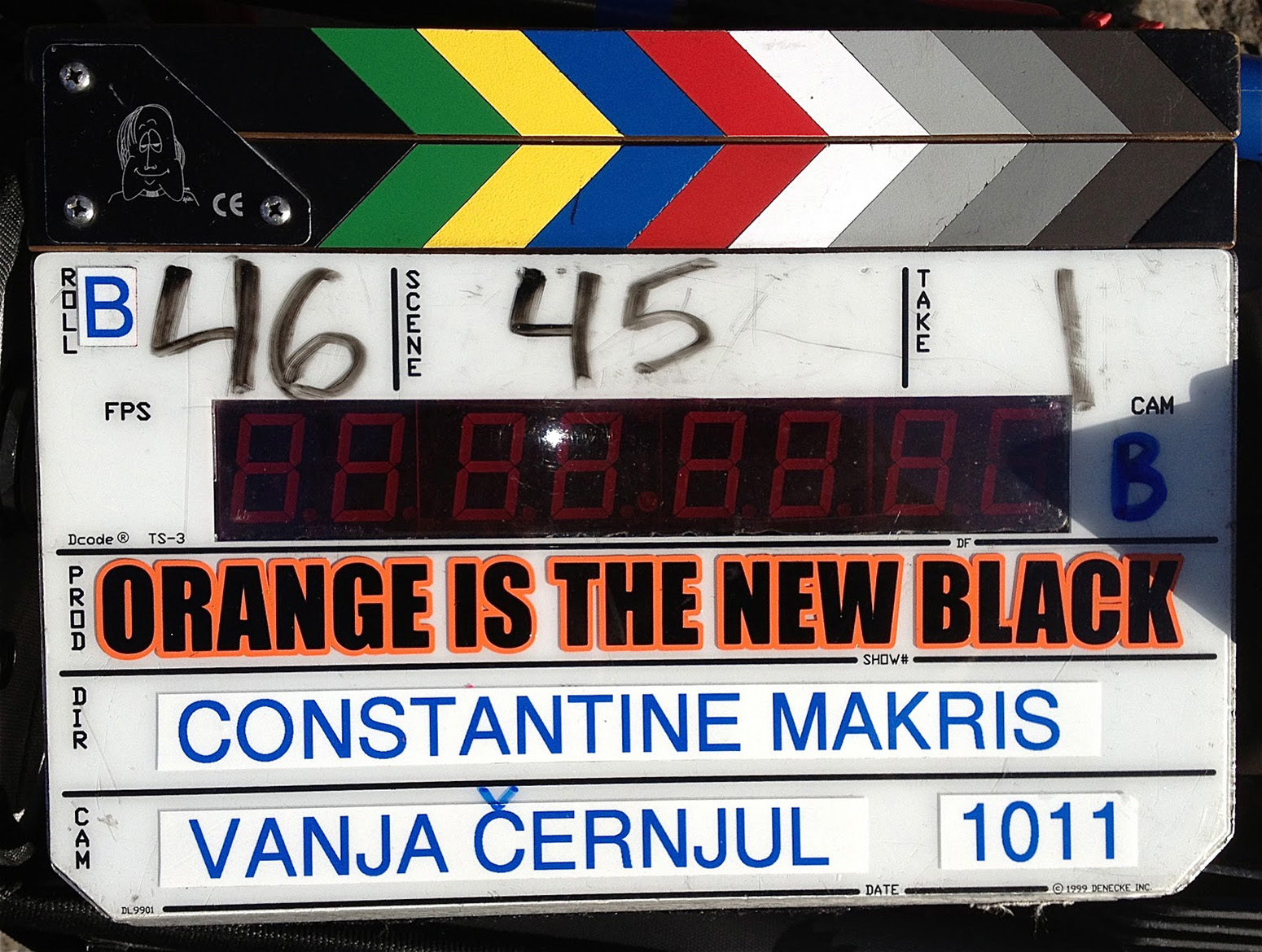 Slate from season 1.