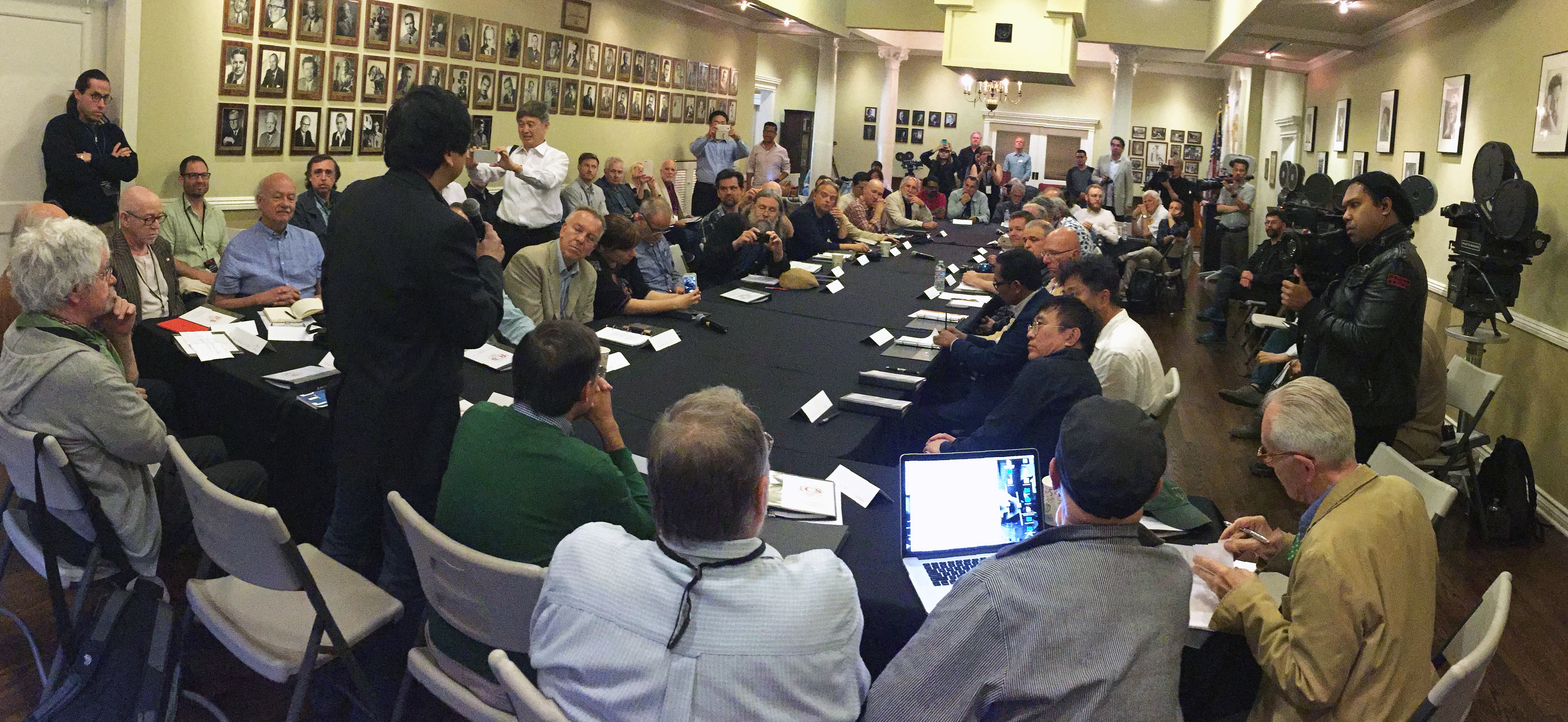 At the ASC Clubhouse, the assembled ICS 2016 participants, representing cinematographers from more than 20 countries. Photo by Bill Bennett, ASC