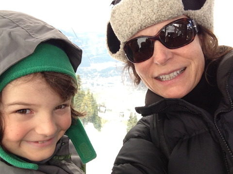 Tami and her son, Phineas, in Vancouver during the filming of BLINK.