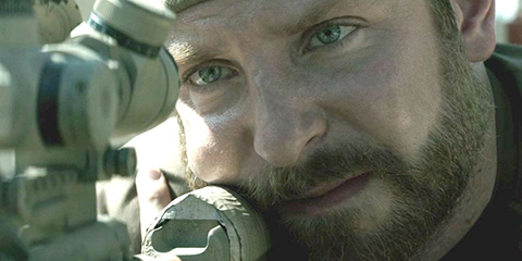 Chris Kyle (Bradley Cooper) in American Sniper. (Credit: Warner Bros. Pictures)
