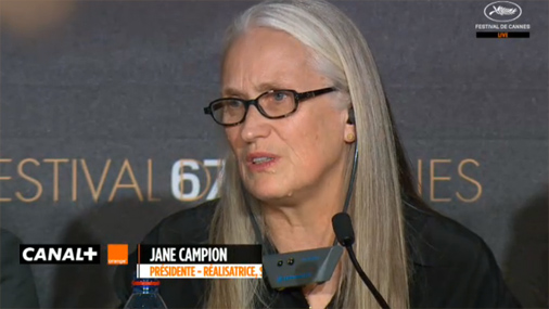 Jane Campion during press conference-