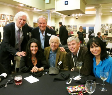 Douglas, Owen Roizman, Francoise Kirkland, Haskell Wexler, Mark Kirkland and Letitia Kirkland at the Clubhouse.