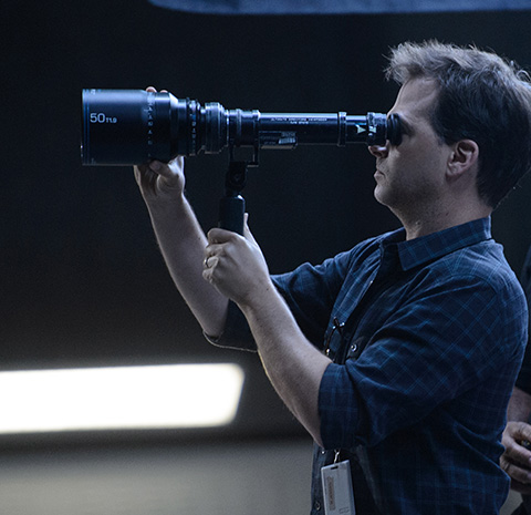 Jensen lines up a shot for Fantastic Four. (Credit: Ben Rothstein/20th Century Fox)