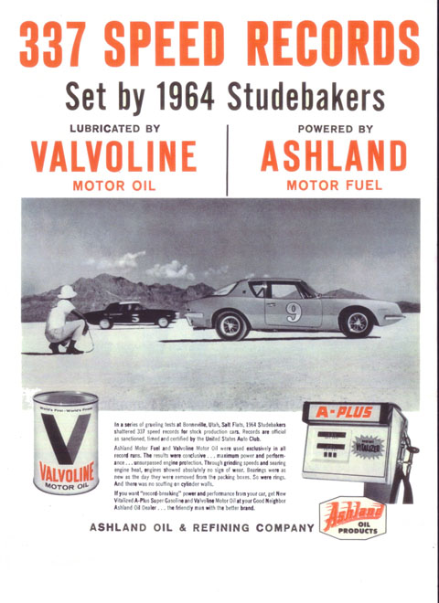 """""""If you want 'record-breaking' power and performance from your car, get New Vitalized A-Plus Super Gasoline and Valvoline Motor Oil. . . """""""