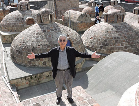 Hiro Narita, ASC, at a rooftop location Sergei Parajanov used in [em]The Color of Pomegranates[/em].