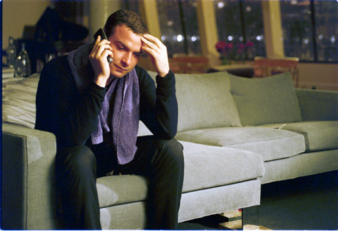 Schreiber's character relates better over the phone.
