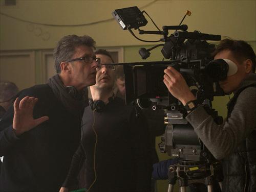 Pawel Pawlikowski and Lukasz Zal on set of IDA -thefilmbook v2