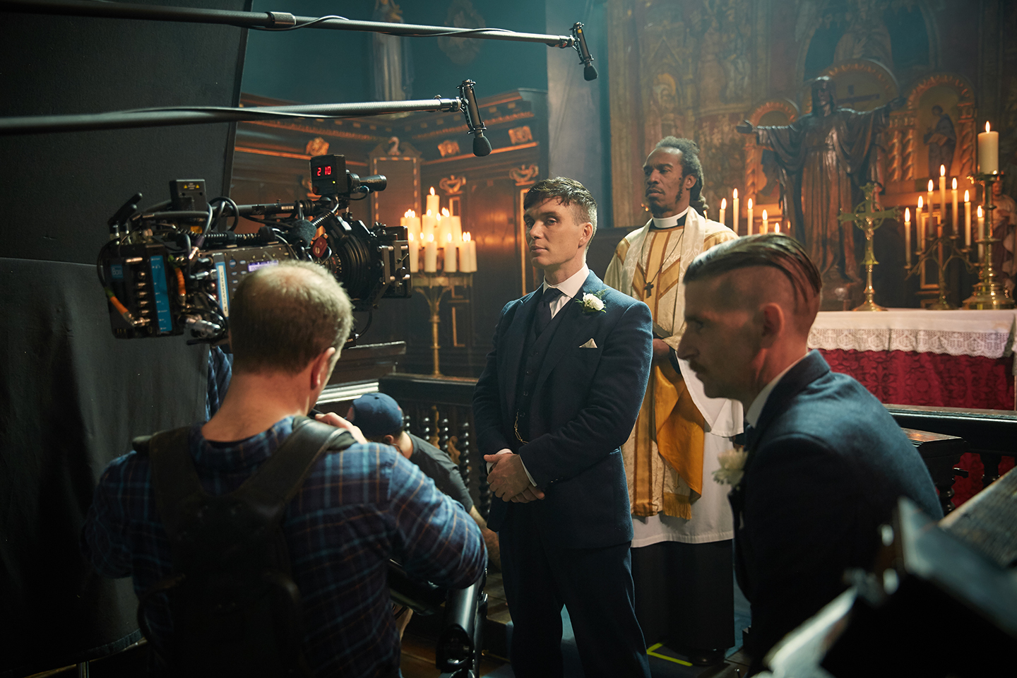 A Steadicam is employed for Tommy's wedding scene.