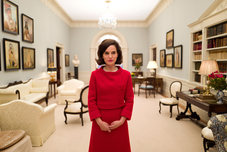 Portman in White House set of Jackie - photo by Pablo Larrain