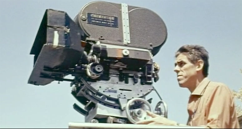 Raoul Coutard in opening credit sequence of Contempt by Jean-Luc Godard