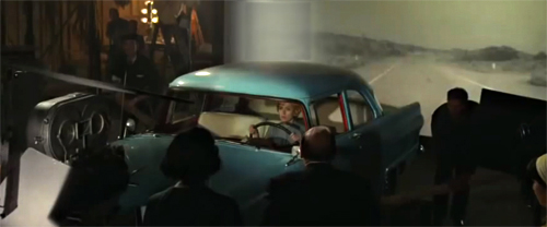 Rear Projection as depicted in the film Hitchcock -thefilmbook-