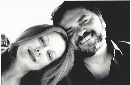 Julio Macat with his wife Elizabeth Perkins moments after he proposed.