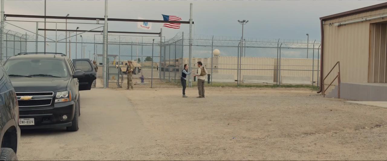 Sicario trailer - wide shot at military base