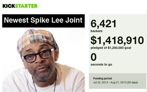 Spike Lee Kickstarter funding - thefilmbook