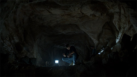 The LED-lit tunnel scene in UNDER THE DOME.