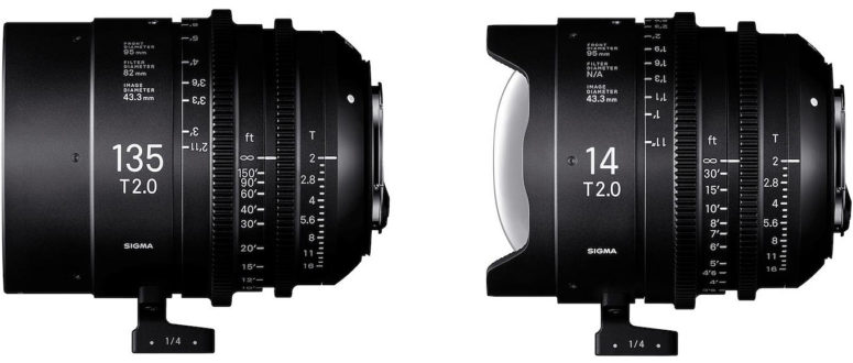 Sigma Intros 14mm and 135mm (T2) Cine Primes