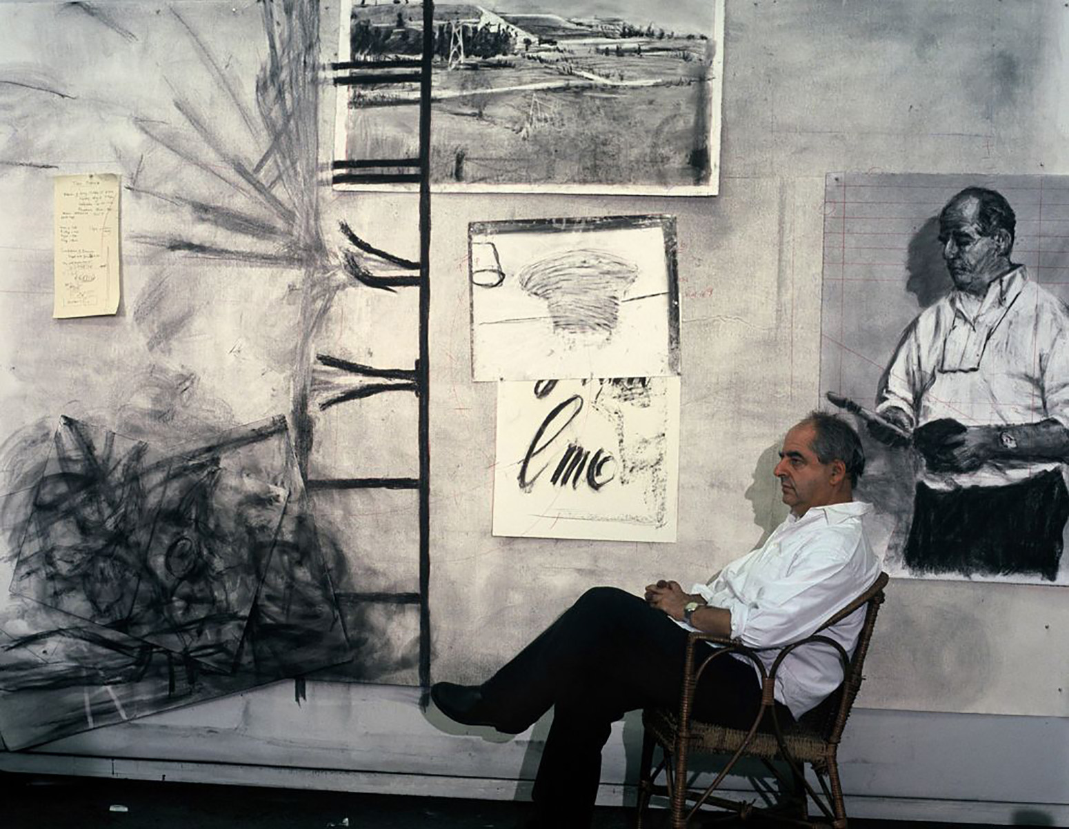 Kentridge in a scene from one of his films.