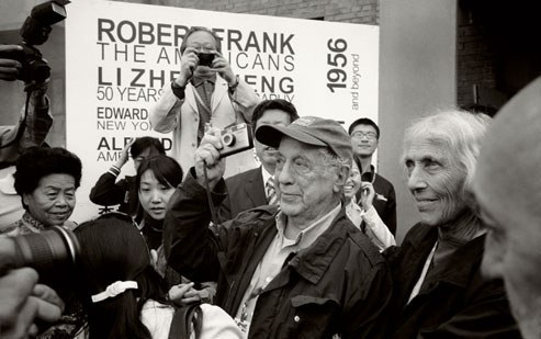 obert Frank and his wife, June Leaf (right), at the opening of the Pingyao International Photography Festival, in Pingyao, China. Photograph by Edward Keating.