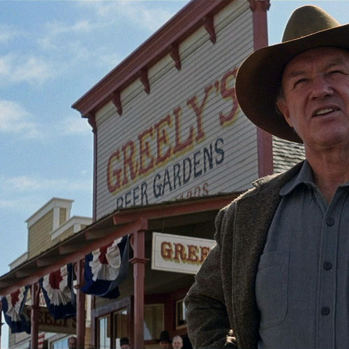 """Sheriff """"Little Bill"""" (Gene Hackman) makes it clear he will not tolerate """"men of low character"""" in Big Whiskey."""
