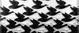 Escher Fish And Birds