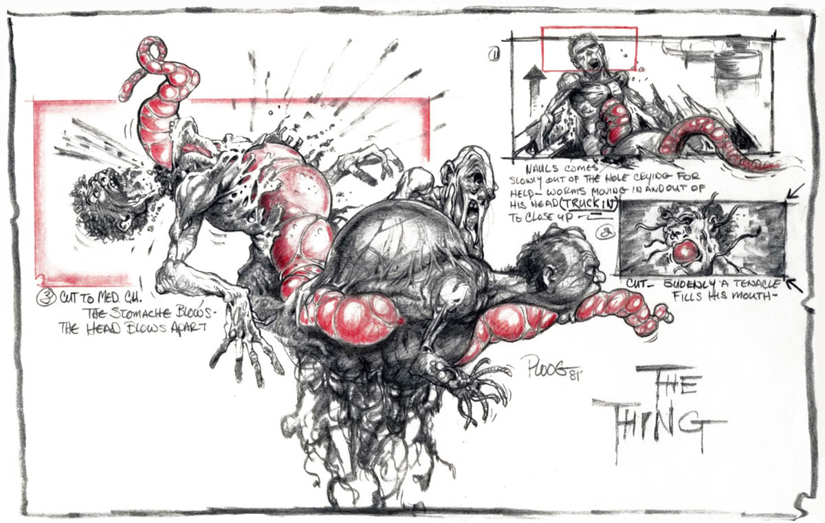 A gruesome transformation designed by illustrator and storyboard artist Mike Ploog.