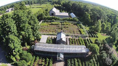Martha Stewart's farm as seen by a Phantom Quadcopter.