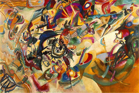 """""""Composition VII,"""" 1913, Tretyakov Gallery, Moscow."""
