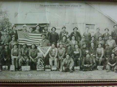 "Eagle, Picher crew, 1943 ""We do our part."""