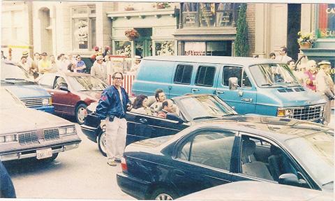 Wayne Kennan, ASC, at work on an episode of Seinfeld.