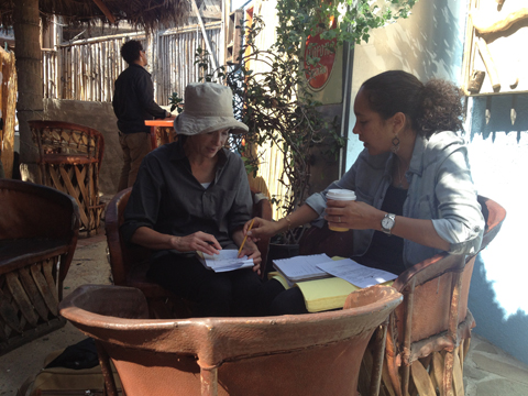 In Los Angeles, Tami and director Gina Prince-Bythwood plot their strategy on BLACKBIRD.