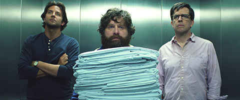 """(L-r) BRADLEY COOPER as Phil, ZACH GALIFIANAKIS as Alan and ED HELMS as Stu in Warner Bros. Pictures' and Legendary Pictures' comedy """"THE HANGOVER PART III,"""" a Warner Bros. Pictures release."""