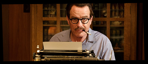 A promotional still for Trumbo, starring Bryan Cranston as blacklisted screenwriter Dalton Trumbo.