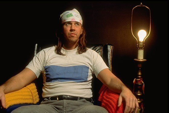 This is a photo by Time photojournalist Steve Liss of writer David Foster Wallace in 1996.