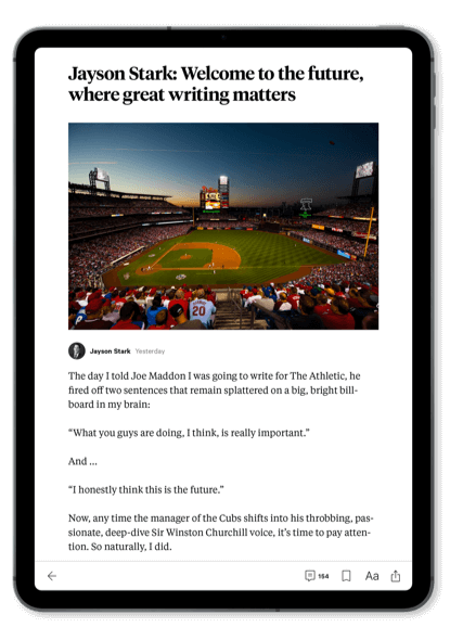 The Athletic The New Standard Of Sports Journalism